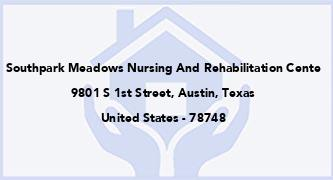 Southpark Meadows Nursing And Rehabilitation Cente