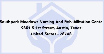 Southpark Meadows Nursing And Rehabilitation Cente