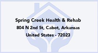 Spring Creek Health & Rehab