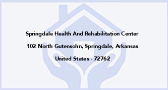 Springdale Health And Rehabilitation Center