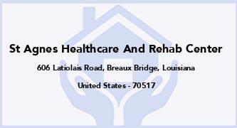 St Agnes Healthcare And Rehab Center