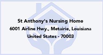 St Anthony'S Nursing Home