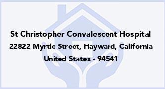 St Christopher Convalescent Hospital