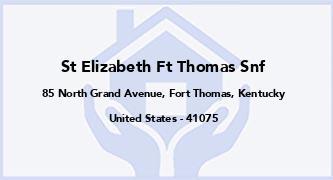 St Elizabeth Ft Thomas Snf