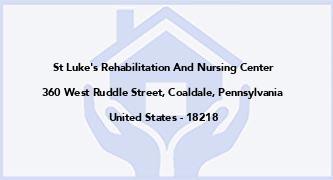 St Luke'S Rehabilitation And Nursing Center