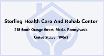 Sterling Health Care And Rehab Center
