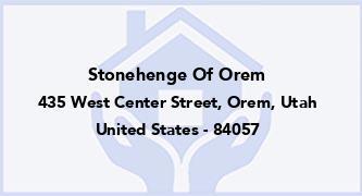 Stonehenge Of Orem