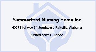 Summerford Nursing Home Inc