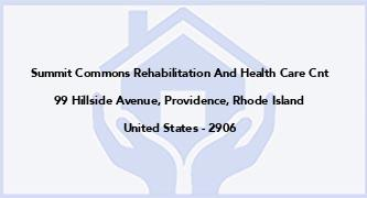 Summit Commons Rehabilitation And Health Care Cnt