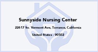Sunnyside Nursing Center