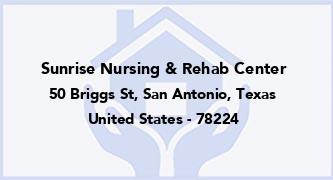 Sunrise Nursing & Rehab Center