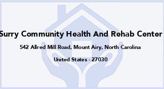 Surry Community Health And Rehab Center