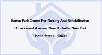 Sutton Park Center For Nursing And Rehabilitation