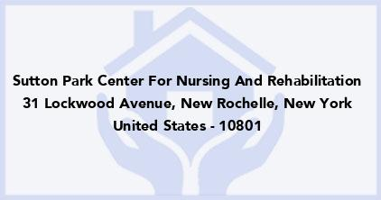Sutton Park Center For Nursing And Rehabilitation