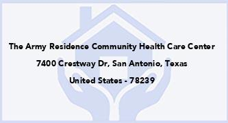 The Army Residence Community Health Care Center