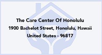 The Care Center Of Honolulu