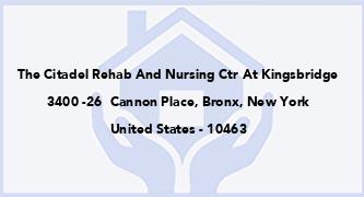 The Citadel Rehab And Nursing Ctr At Kingsbridge
