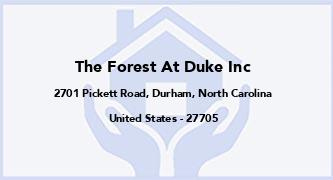 The Forest At Duke Inc