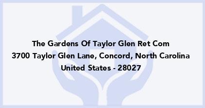 The Gardens Of Taylor Glen Ret Com