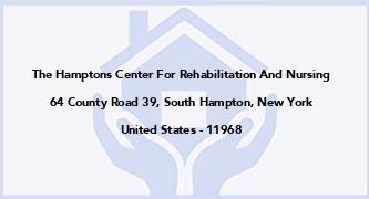 The Hamptons Center For Rehabilitation And Nursing