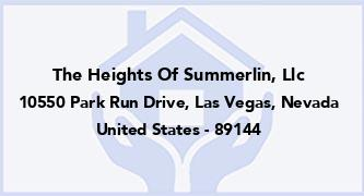 The Heights Of Summerlin, Llc