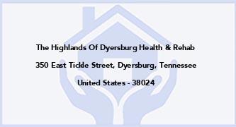 The Highlands Of Dyersburg Health & Rehab