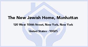 The New Jewish Home, Manhattan