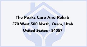 The Peaks Care And Rehab