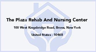 The Plaza Rehab And Nursing Center
