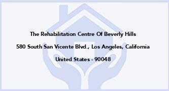 The Rehabilitation Centre Of Beverly Hills