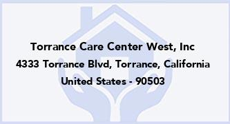 Torrance Care Center West, Inc