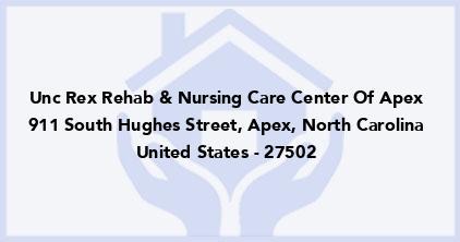 Unc Rex Rehab & Nursing Care Center Of Apex