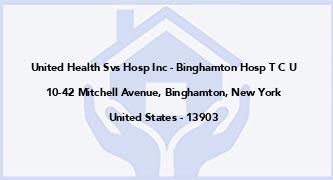 United Health Svs Hosp Inc - Binghamton Hosp T C U
