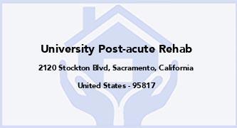 University Post-Acute Rehab