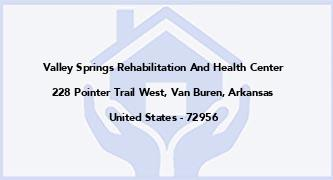 Valley Springs Rehabilitation And Health Center