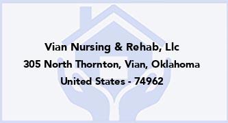 Vian Nursing & Rehab, Llc