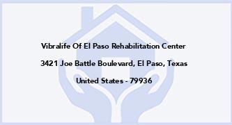 Vibralife Of El Paso Rehabilitation Center