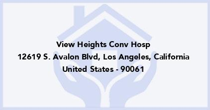View Heights Conv Hosp