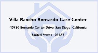 Villa Rancho Bernardo Care Center