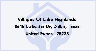 Villages Of Lake Highlands
