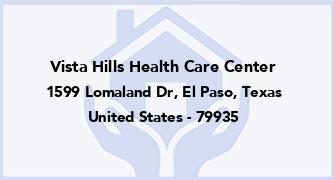 Vista Hills Health Care Center