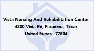 Vista Nursing And Rehabilitation Center