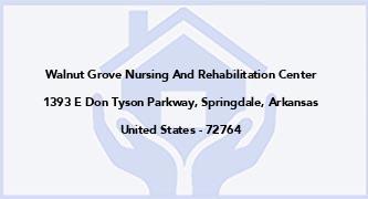 Walnut Grove Nursing And Rehabilitation Center