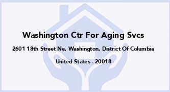 Washington Ctr For Aging Svcs