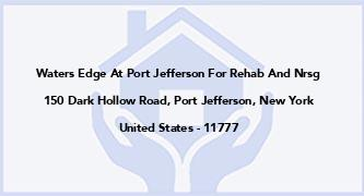 Waters Edge At Port Jefferson For Rehab And Nrsg