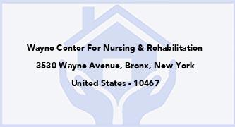 Wayne Center For Nursing & Rehabilitation