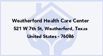 Weatherford Health Care Center