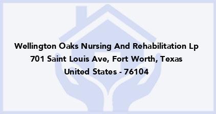 Wellington Oaks Nursing And Rehabilitation Lp