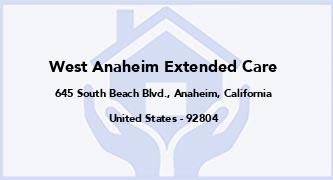 West Anaheim Extended Care