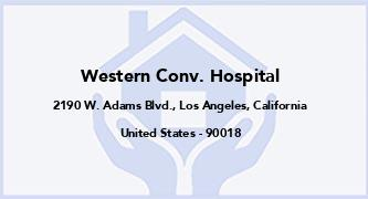 Western Conv. Hospital